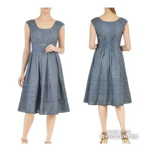 Eshakti Chelsea Chambray Dress
